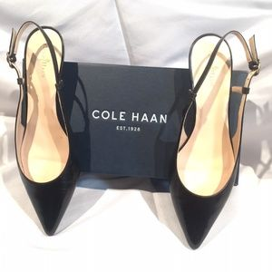 Cole Haan  LOW SLING BlackLeather heels